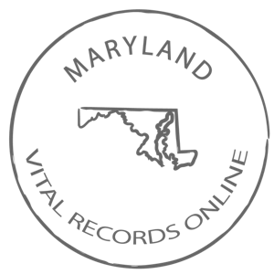 Maryland Marriage Certificate, Vital Records